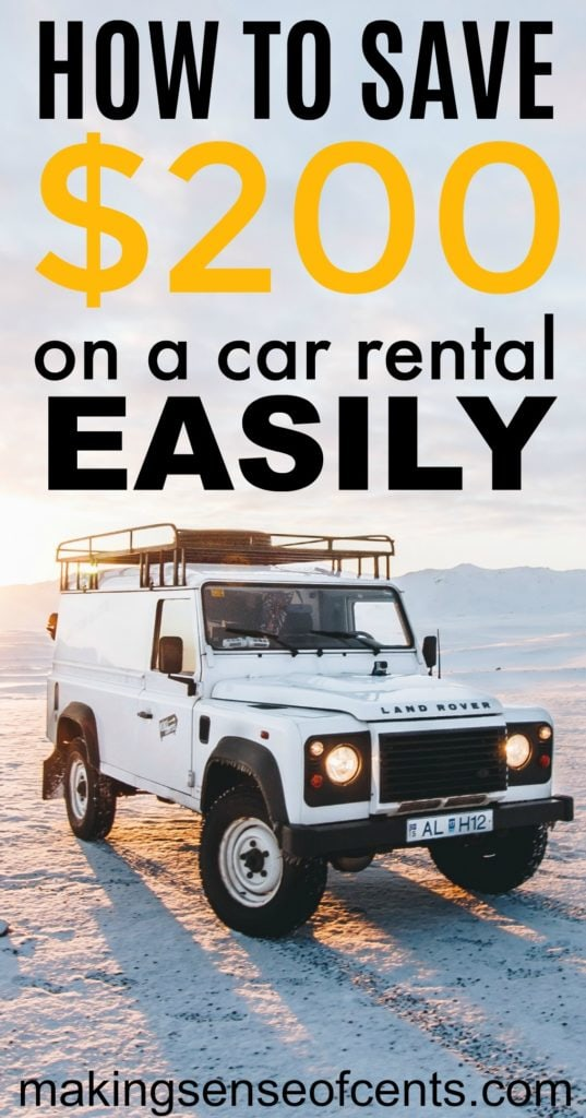 How to save money on a car rental