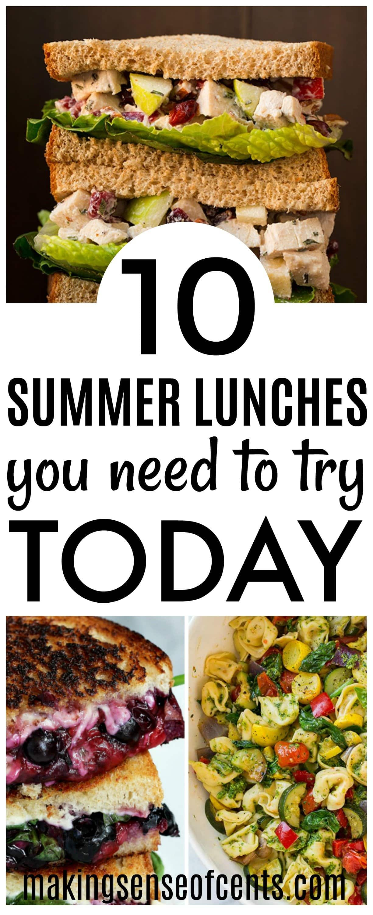 10 Summer Lunch Ideas You Need To Try Today #summerlunchideas #summermeals