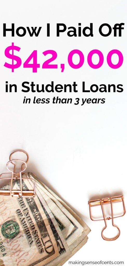 How I Paid Off Over $42,000 in Student Loans in 34 Months (Earning $36,000 Per Year)