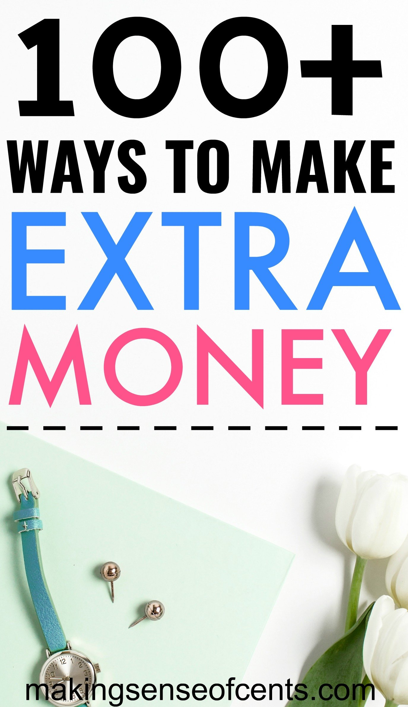 Make Extra Income - Over 100 Ways To Make Extra Money!