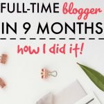 Minimum Wage Waitress to Full Time Blogger in 9 Months – How I Did It!