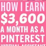 How I Started Earning $3,600 a Month As A Pinterest Assistant After Just 6 Months