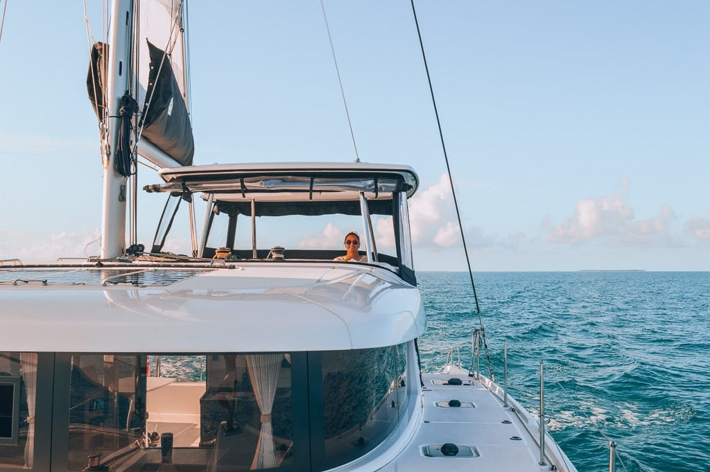 We're living on a sailboat, SV Paradise! We bought a Lagoon 42 catamaran and switched from RVing to becoming liveaboards and eventually cruisers.