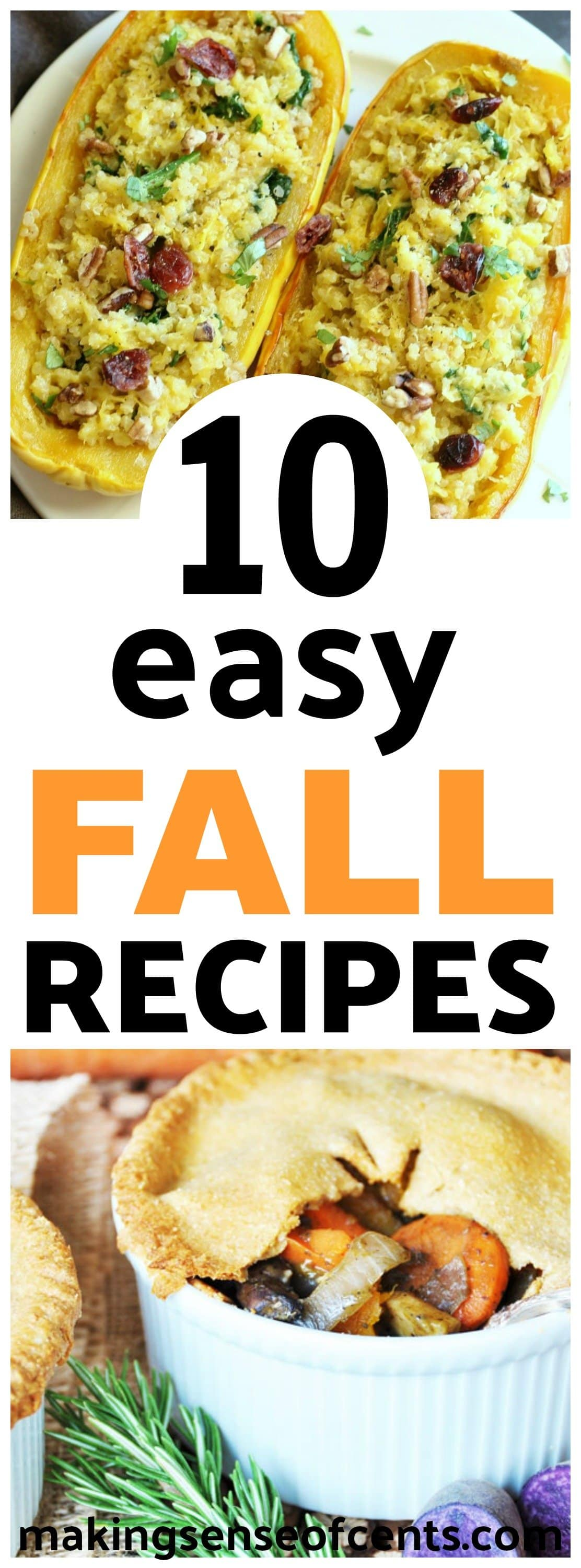 Looking to add some delicious, easy fall recipes to your meal plan? Here are 10 healthy, easy, dinner, fall recipes. #fallrecipes #falldinneridas #easyfallrecipes