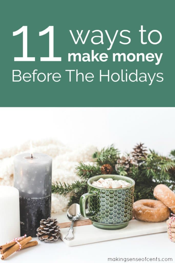 Are you looking to find ways to make extra money for Christmas and the many other wonderful holidays of the season? Find ways to make holiday cash for Christmas here. #holidaycash #waystomakemoney #waystomakeextramoneyforchristmas #holidays
