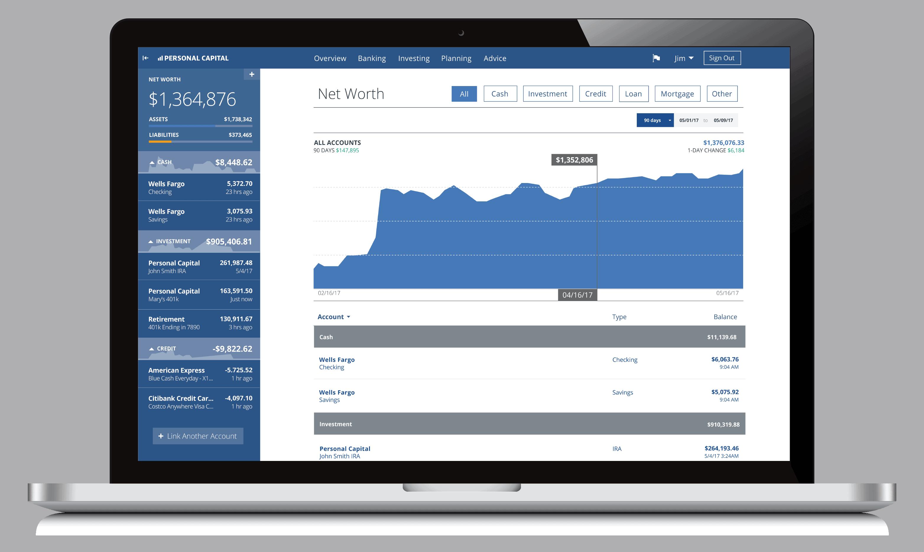 capital personal money worth manage management portfolio tool makingsenseofcents