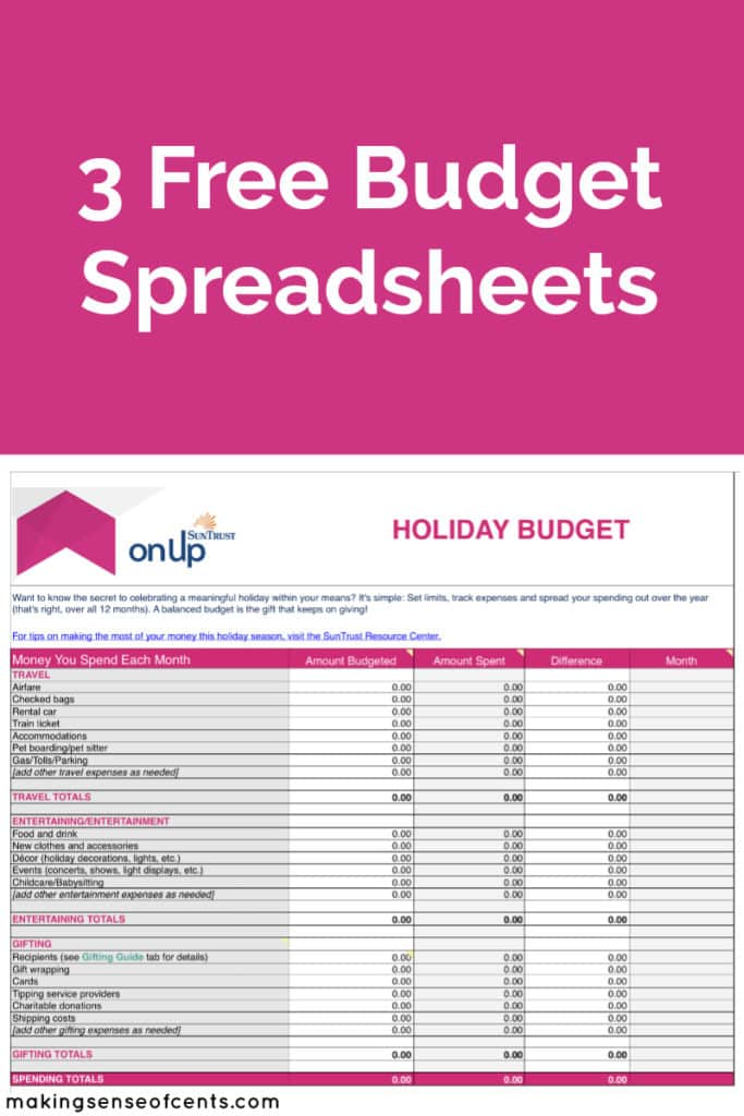 Setting a Holiday Spending Budget #ad #budget #budgetspreadsheet