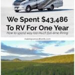 We Spent $43,486 To RV For One Year – How to Spend Way Too Much Full-Time RVing