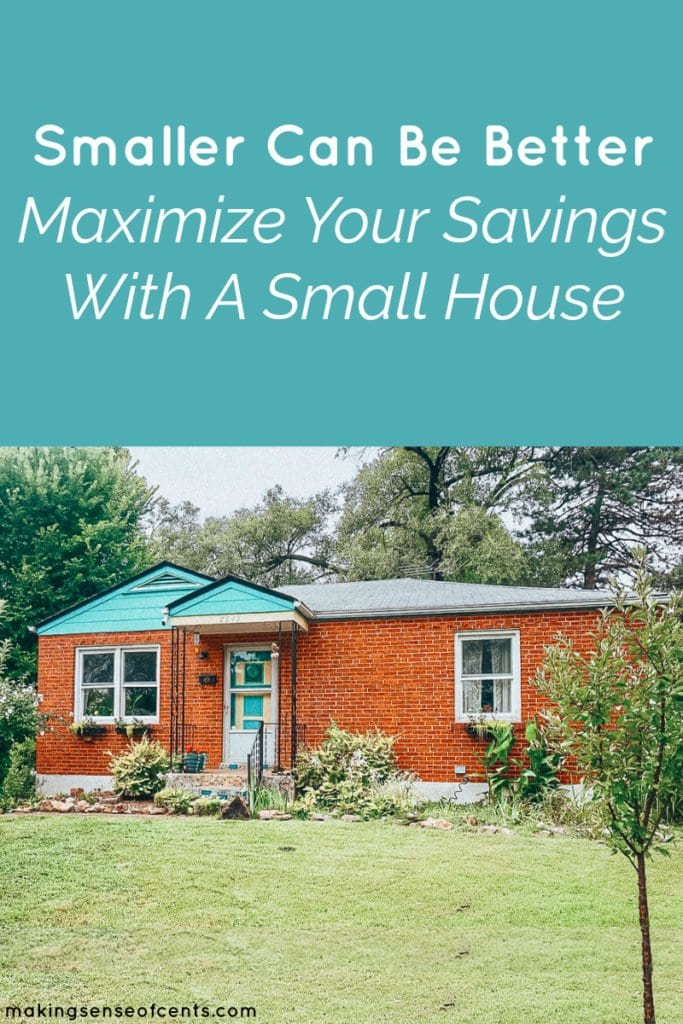 Smaller Can Be Better- Maximize Your Savings With A Small House. Small house decorating, small house organization, small house plans, under 1000 sq ft #smallhouseideas #smallhouseplans
