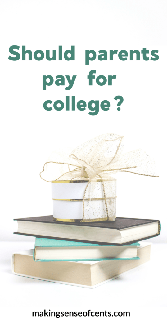 Parents Paying For College - Is This A Good Idea? #shouldparentspayforcollege #parentspayforcollege #collegedebt