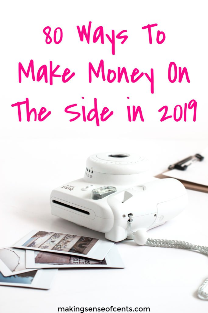 80 Ways To Make Money On The Side in 2019 #waystomakemoney #makeextramoney