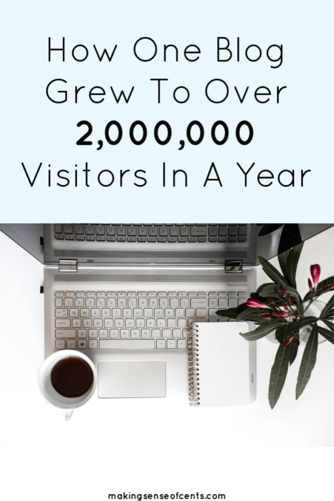 Here's how one blog grew to over 2,000,000 visitors in a year. This blogger has earned over $750,000 in income from their blog due to this one trick! #howtomakemoneyblogging #howtostartablog