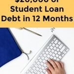 How We Paid Off $20,000 of Student Loan Debt in 12 Months at 23 Years Old