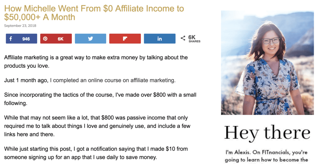 How Michelle Went From $0 Affiliate Income to $50,000+ A Month