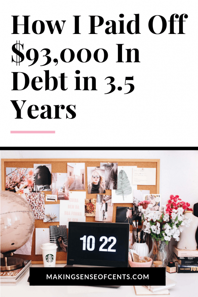 2 Strategies and 3 Habits That Helped Me Pay Off $93,000 of Debt in 3.5 Years #payoffdebt #debtfree