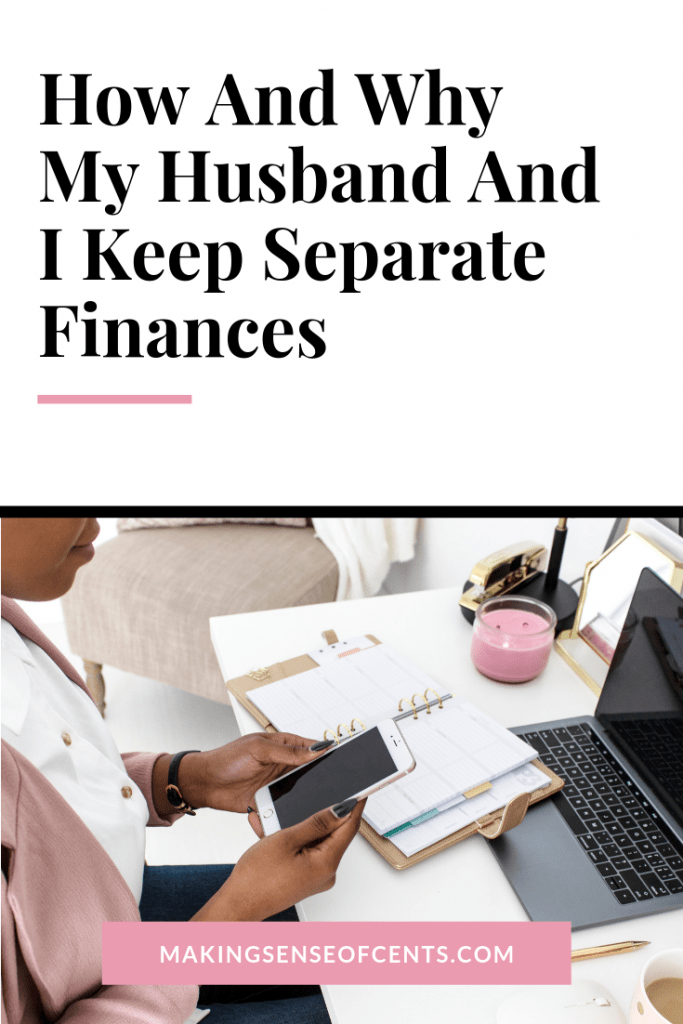 How And Why My Husband And I Keep Separate Finances #manageyourmoney #marriagemoney