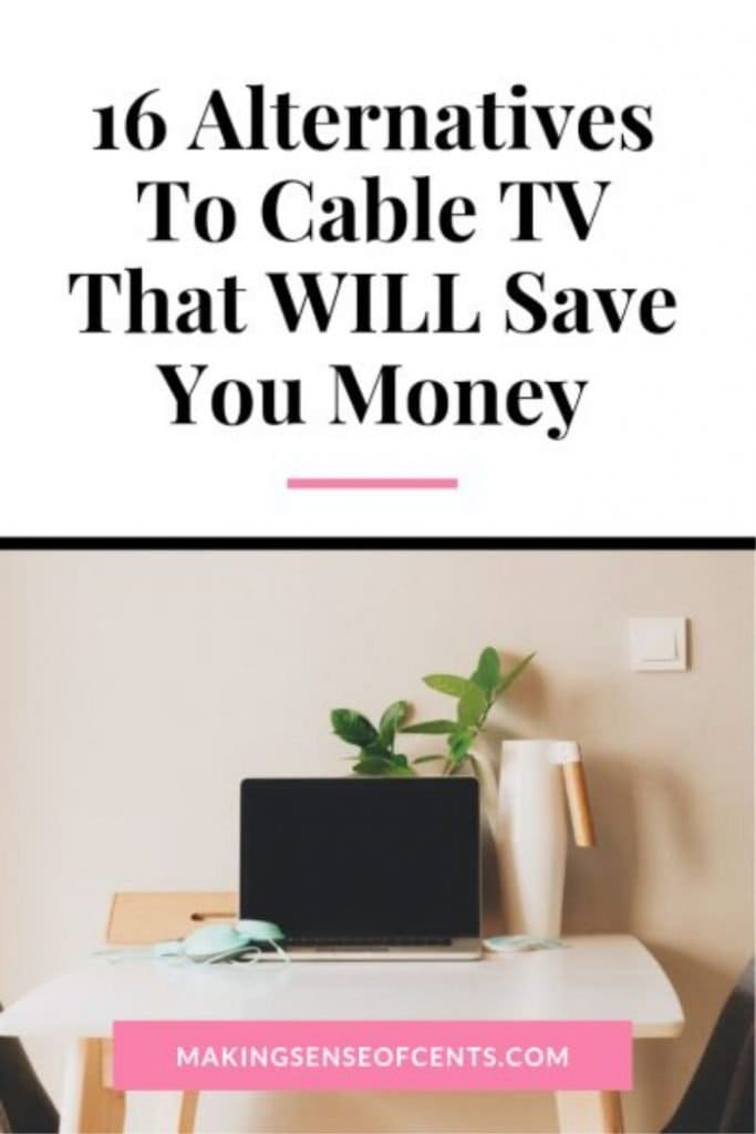 16 Alternatives To Cable TV That WILL Save You Money #alternativestocable #moneysavingtips