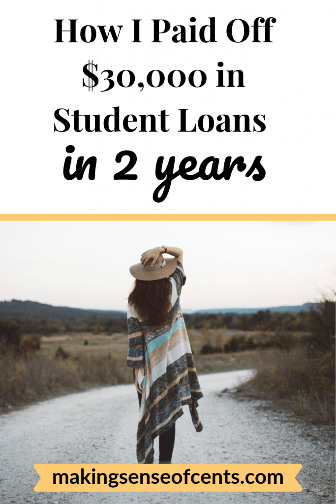 How I Paid Off $30,000 of Student Loans in 2 Years by Paying the Minimum Balance #studentloans #manageyourmoney #studentloandebt
