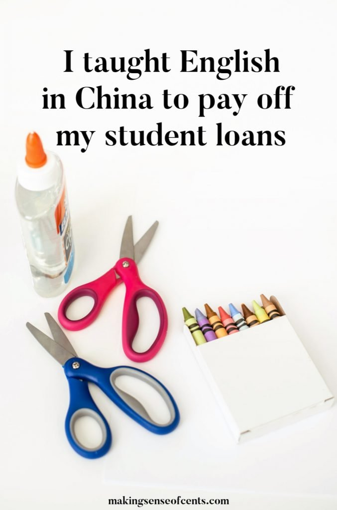 I taught English in China to pay off my student loans #teachenglish #movetochina #makeextramoney