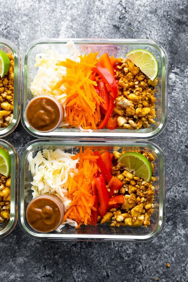 vegan meal prep bowls