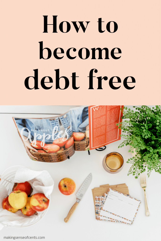 how to become debt free
