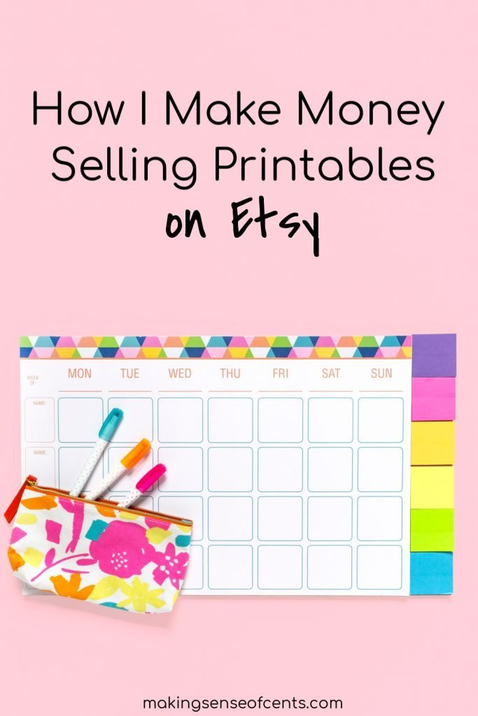 How I Make Money Selling Printables On Etsy