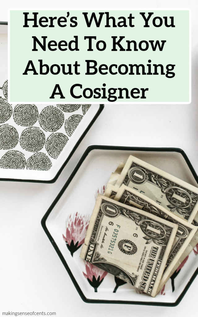 becoming a cosigner