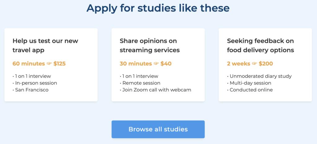 User Interviews website