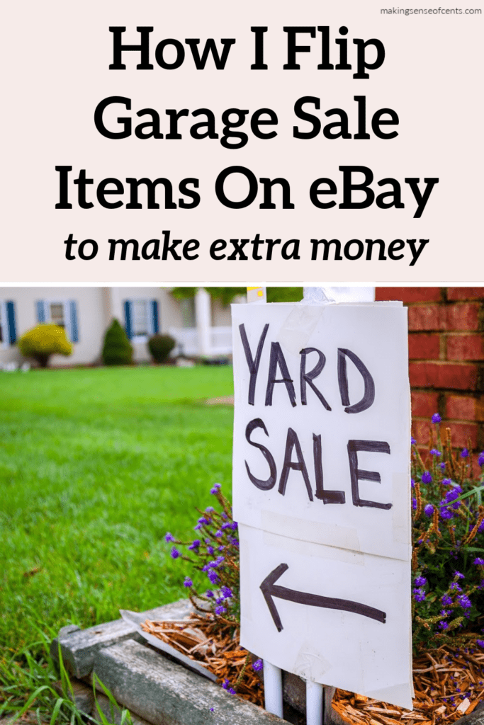 How I Flip Garage Sale Items On eBay As A Side Hustle