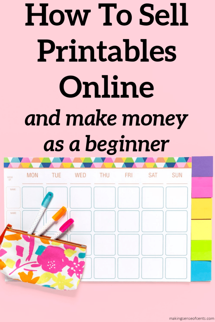 how to sell printables online