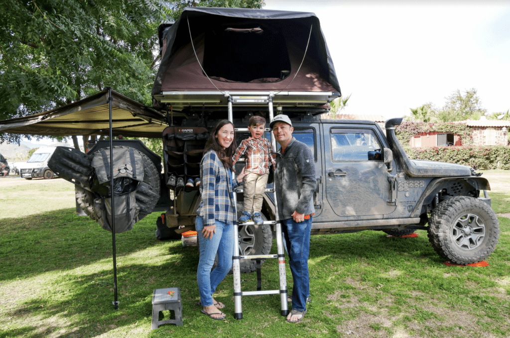 living in a jeep with a family. overlanding family