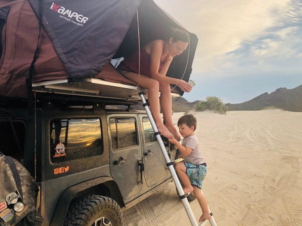 overlanding jeep rooftop tent