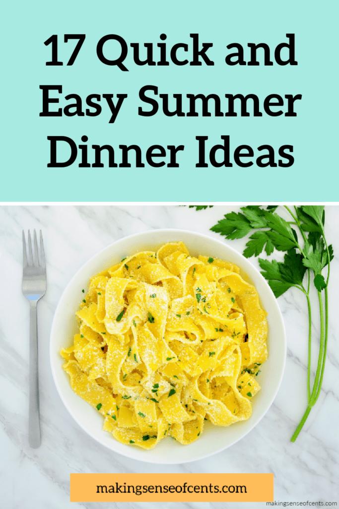 Ideas para una cena de verano